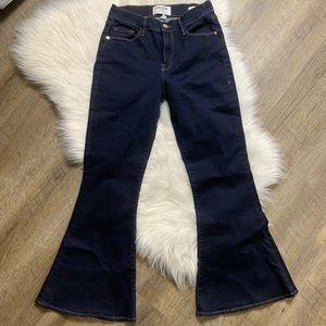 Frame Denim High Rise Le Bell Flare Bottom Jeans